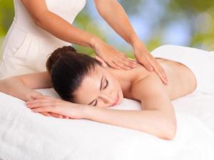 rug massage van een vrouw